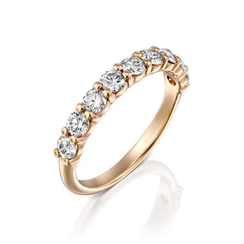 טבעת איטרנטי זהב צהוב / לבן / רוזגולד 14 קראט משובצת יהלומים