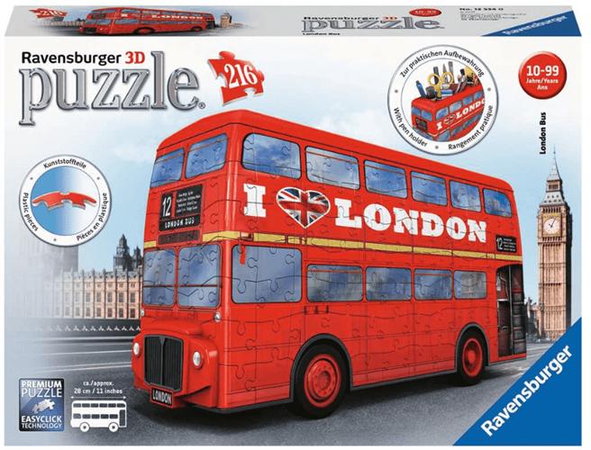 פאזל תלת מימד אוטובוס אנגליה 216 חלקים