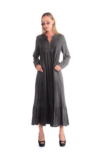 שמלה מלינה אפור כהה