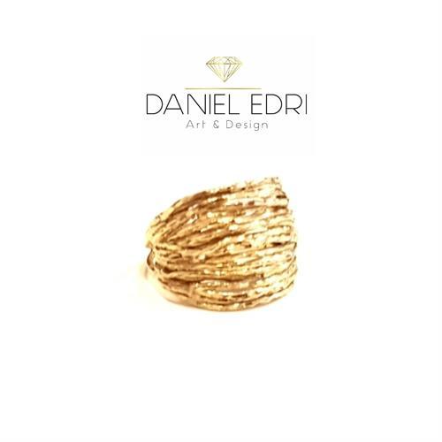 טבעת פסים עבה גולדפילד