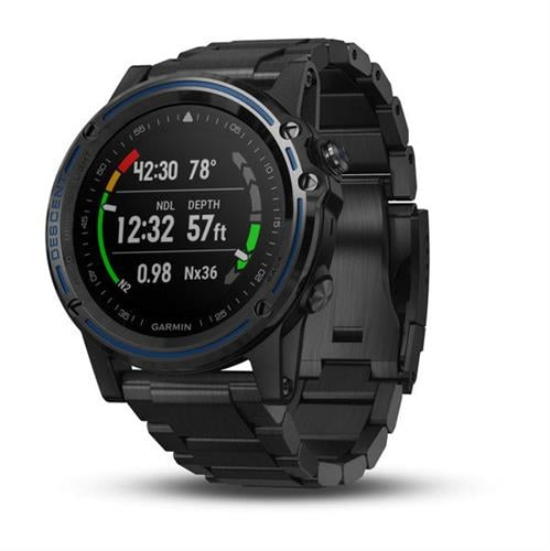 Garmin Descent Mk1 Gray Sapphire with DLC Titanium Band שעון צלילה