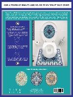 עיצוב איזור האסלה – מדבקה (39 ₪) שטיחון (88 ₪) סט (119 ₪) כוכב המזרח TIVA DESIGN