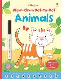 חוברת צבע ומחק - קו נקודה חיות