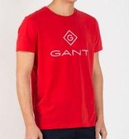 גברים   GANT T-SHIRT LOGO RED