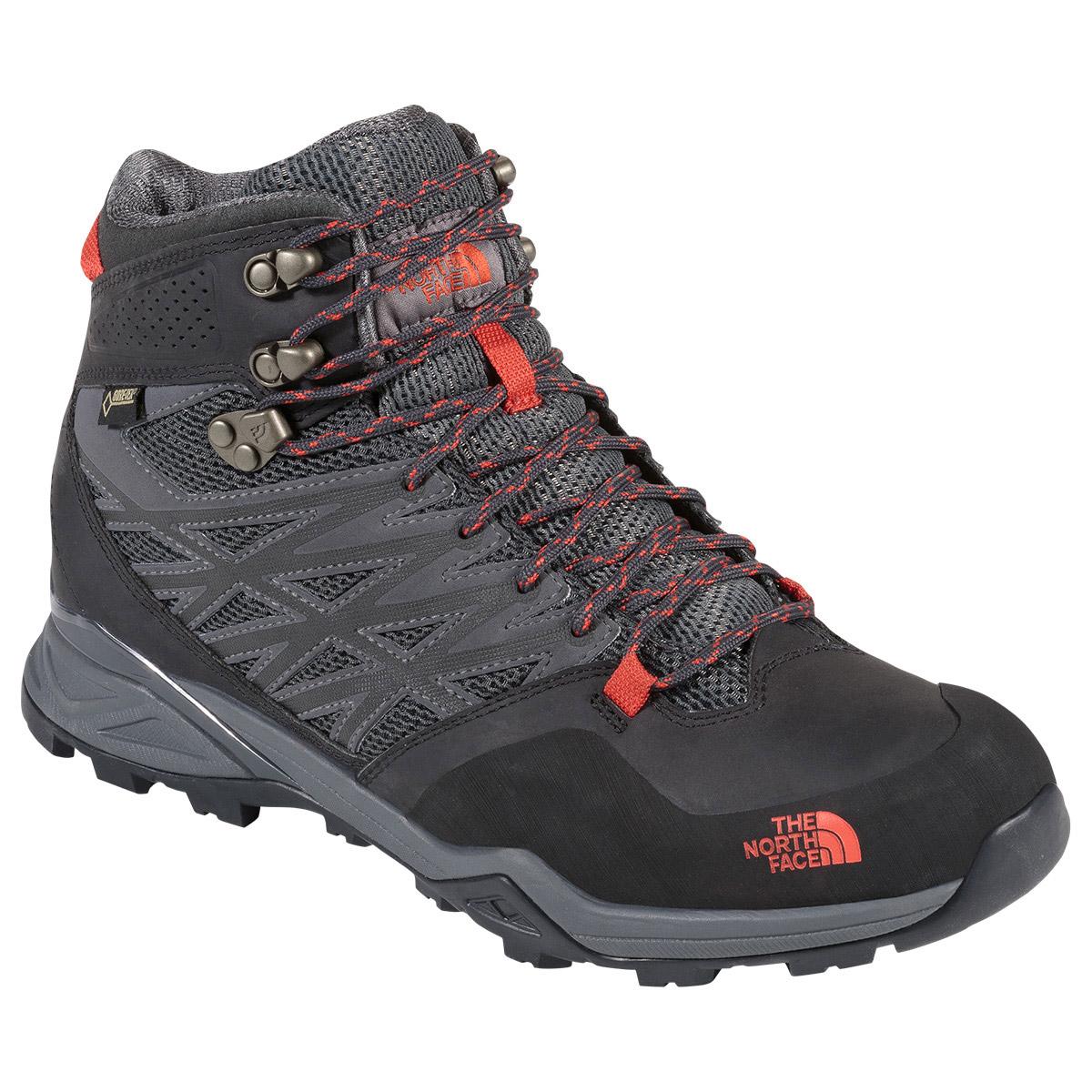  נעלי הרים גברים אדום  The North Face Hedgehog Hike Mid GTX
