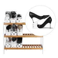 מתלה נעליים להכפלת קיבולת אחסון - 6 יחידות