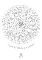דפי מנדלות לצביעה - I AM A STAR OF LIGHT