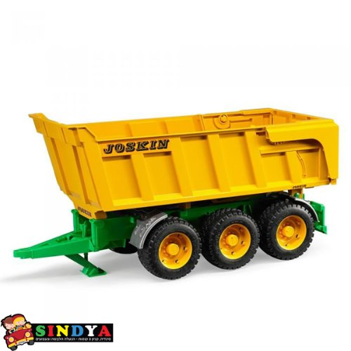 עגלה לטרקטור JOSKIN ירוקה וצהובה 02212