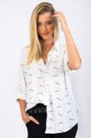 חולצת מייגן  לבן