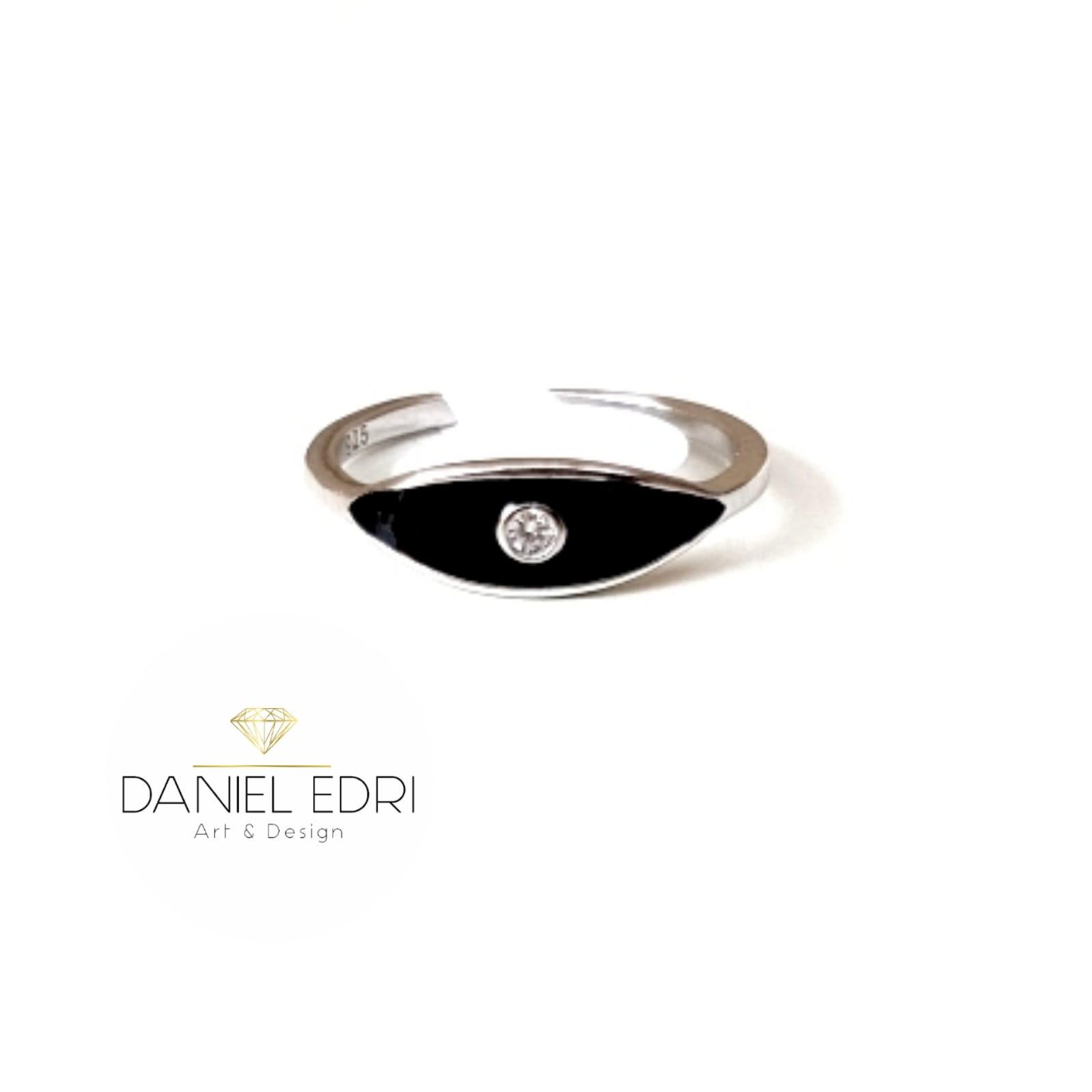 טבעת עין אחת -שחור