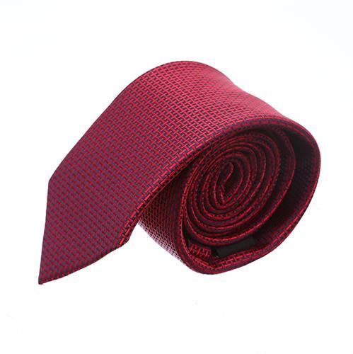 """עניבה """"צינורות"""" אדום יין"""