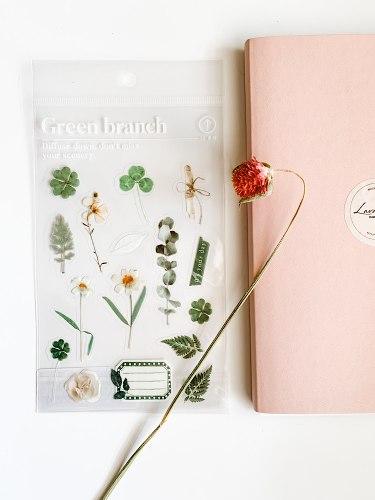 מדבקות פרחים- פריחה ירוקה