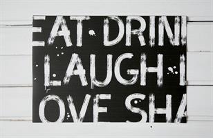 פלייסמט צחוק ושמחה (שחור)