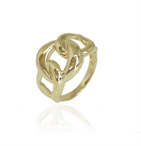 טבעת זהב חוליות