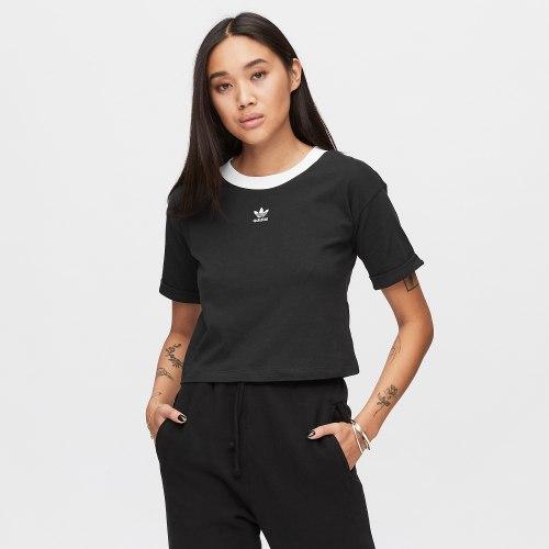 חולצת קרופ ADIDAS שחורה