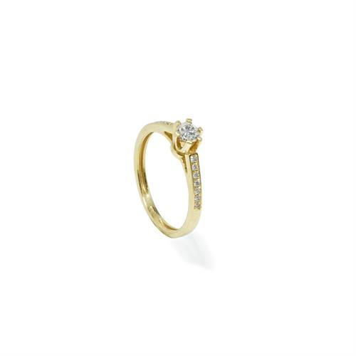 טבעת יהלומים 0.40 קראט בזהב 14K