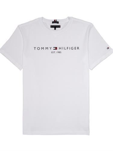 טישירט בייסיק לוגו TOMMY HILFIGER  לבן