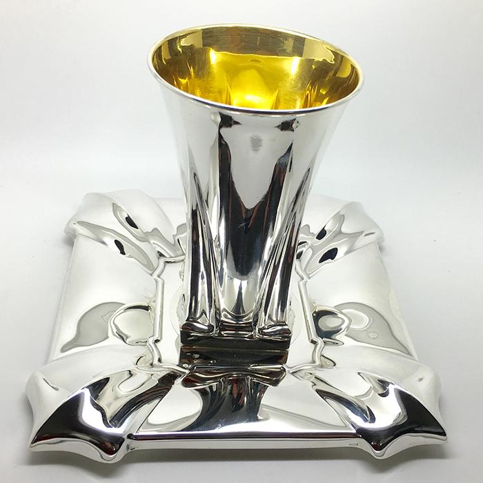 סט גביע וצלחת כסף טהור של האחים חדד לקידוש - SOP001950416