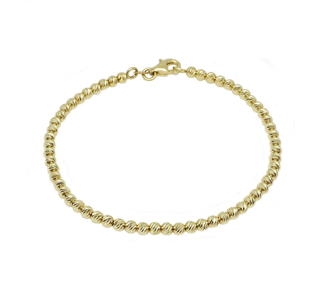 צמיד זהב כדורי לאישה או נערה בינוני