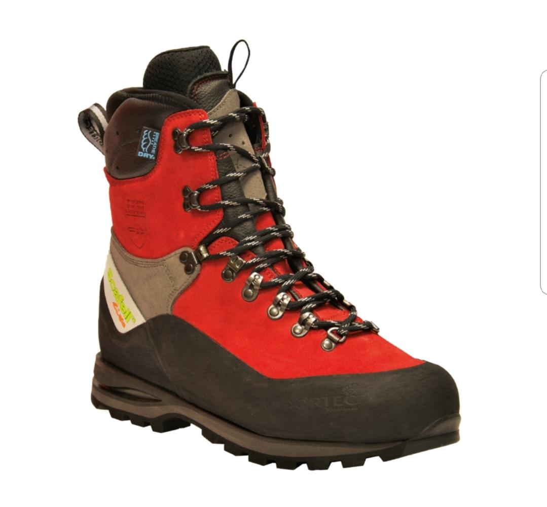 נעלי בטיחות מוגנות חיתוך Arbortec אדום