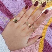 טבעת זהב חותם עם דוגמא|טבעת זהב חריטה