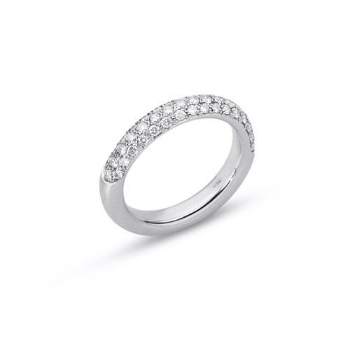 טבעת זהב 18K משובצת יהלומים 0.75 קראט