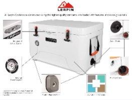 צידנית LERPIN 50L - לבן