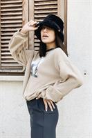 כובע באקט פלאפי סטריט שחור