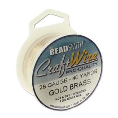 חוט מתכת פיסולי 0.3- זהב -  BEADSMITH