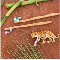 זוג מברשות שיניים מבמבוק לילדים ופעוטות