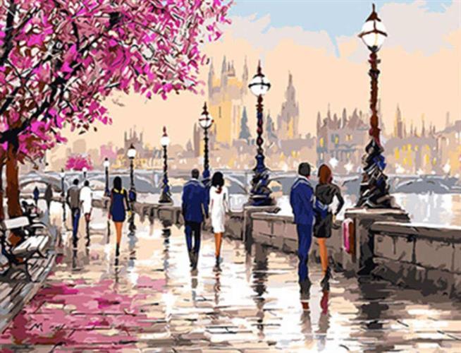 צביעה לפי מספרים - לונדון רומנטית