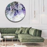תמונה אבסטרקט מודרנית בצבע סגול לסלון