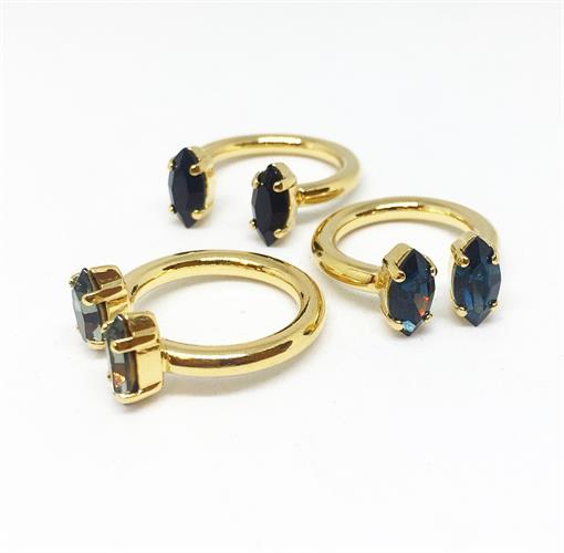 טבעת אן אובלי זהב