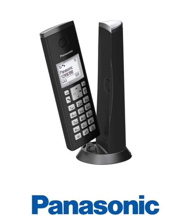 Panasonic טלפון אלחוטי מעוצב שחור דגם KX-TGK210MB