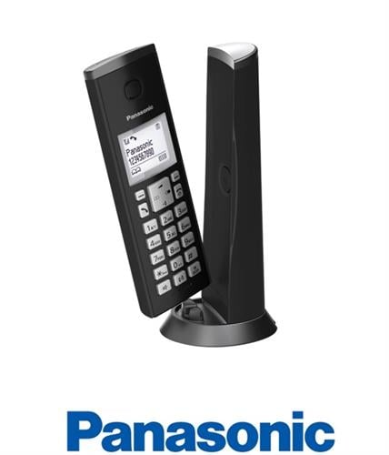 Panasonic טלפון אלחוטי מעוצב שחור דגם KXTGK210MB