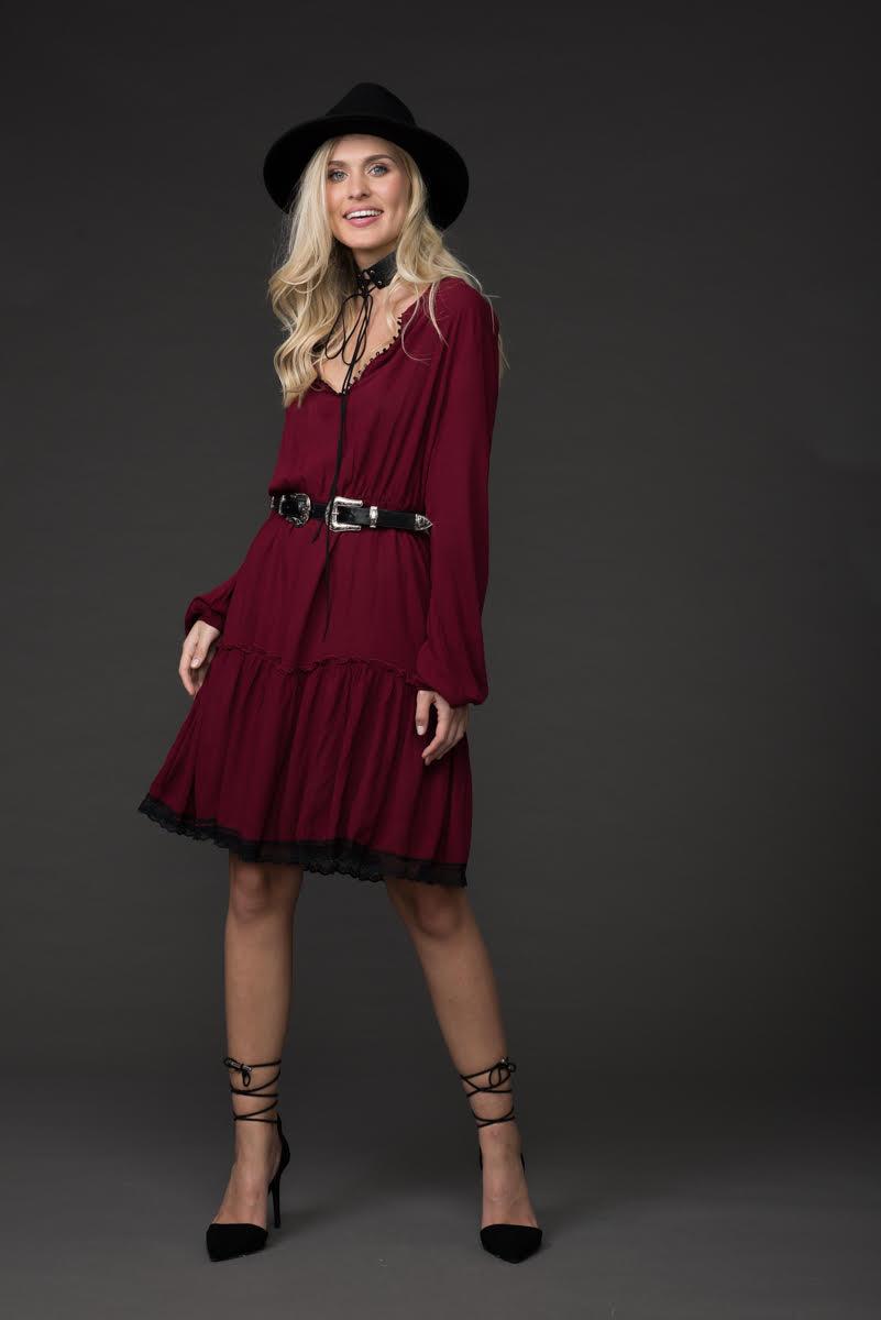 שמלת ג'ייזי - בורדו
