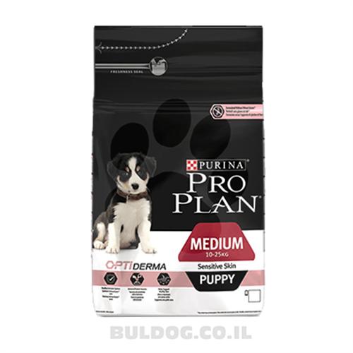 """מזון לכלבים גורים רגישים מגזע בינוני פרו פלאן 12 ק""""ג"""