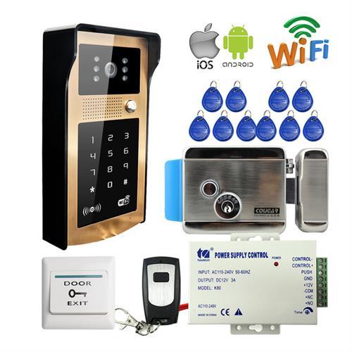 מערכת אינטרקום וידאו HD WIFI + מנעול אלקטרוני ושליטה מהסמארטפון בכל נקודה בעולם משלוח מהיר