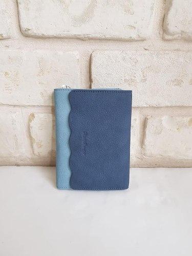ארנק דמוי עור בינוני כחול  4058