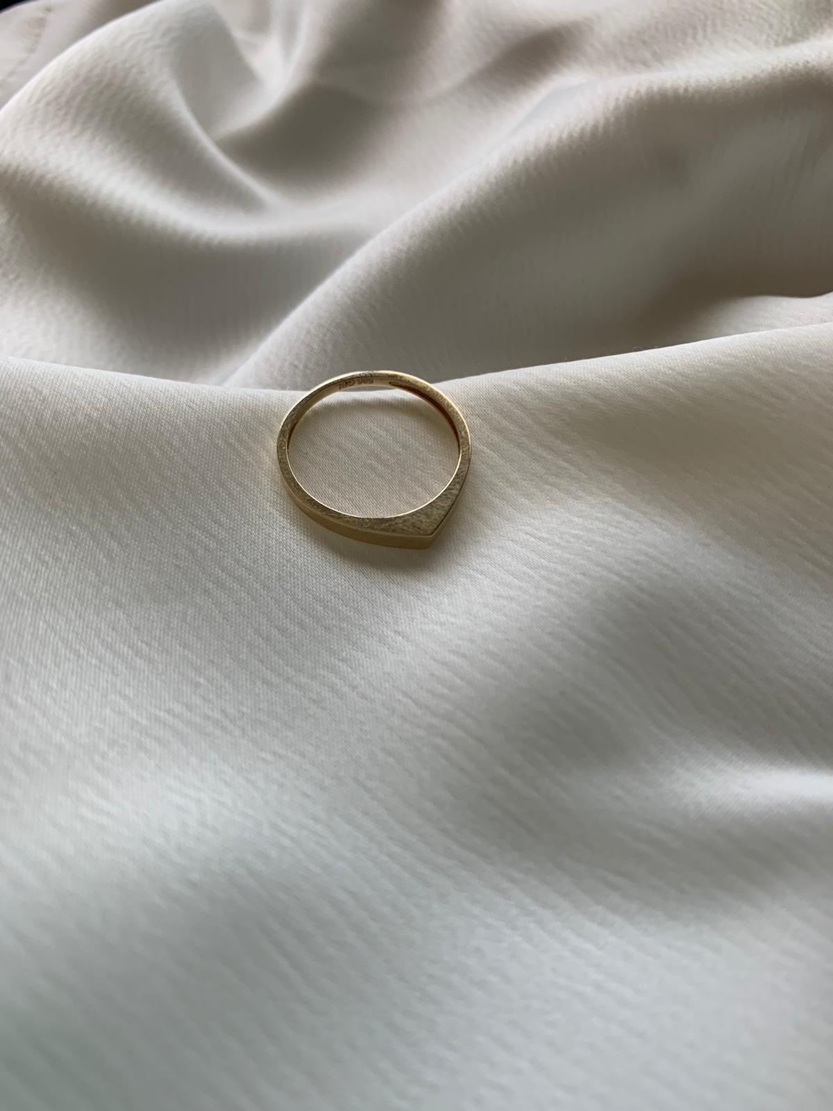 טבעת טיפה זהב 14 קראט