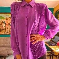 חולצה 80S סגולה מפוסלת אדירה מידה XL