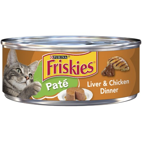 מעדן לחתולים פריסקיז פטה כבד ועוף 156 גרם -FRISKIES LIVER AND CHICKEN DINNER PATE 156G