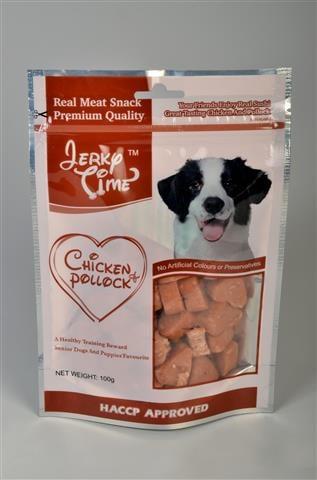 חטיף לכלב ג'רקי לבבות עוף