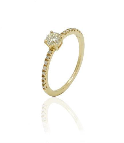 טבעת זהב ויהלומים 0.60 קראט
