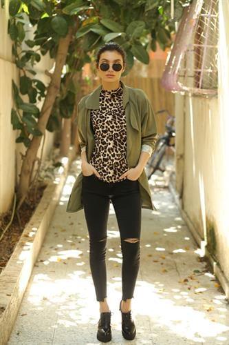 ג'ינס סקיני לני קרעים