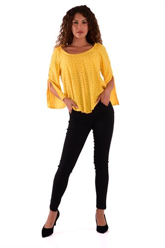 חולצה מלי צהוב משולשים