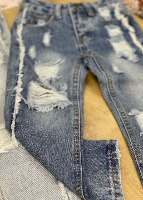 ג'ינס כחול קרעים MISS KIDS