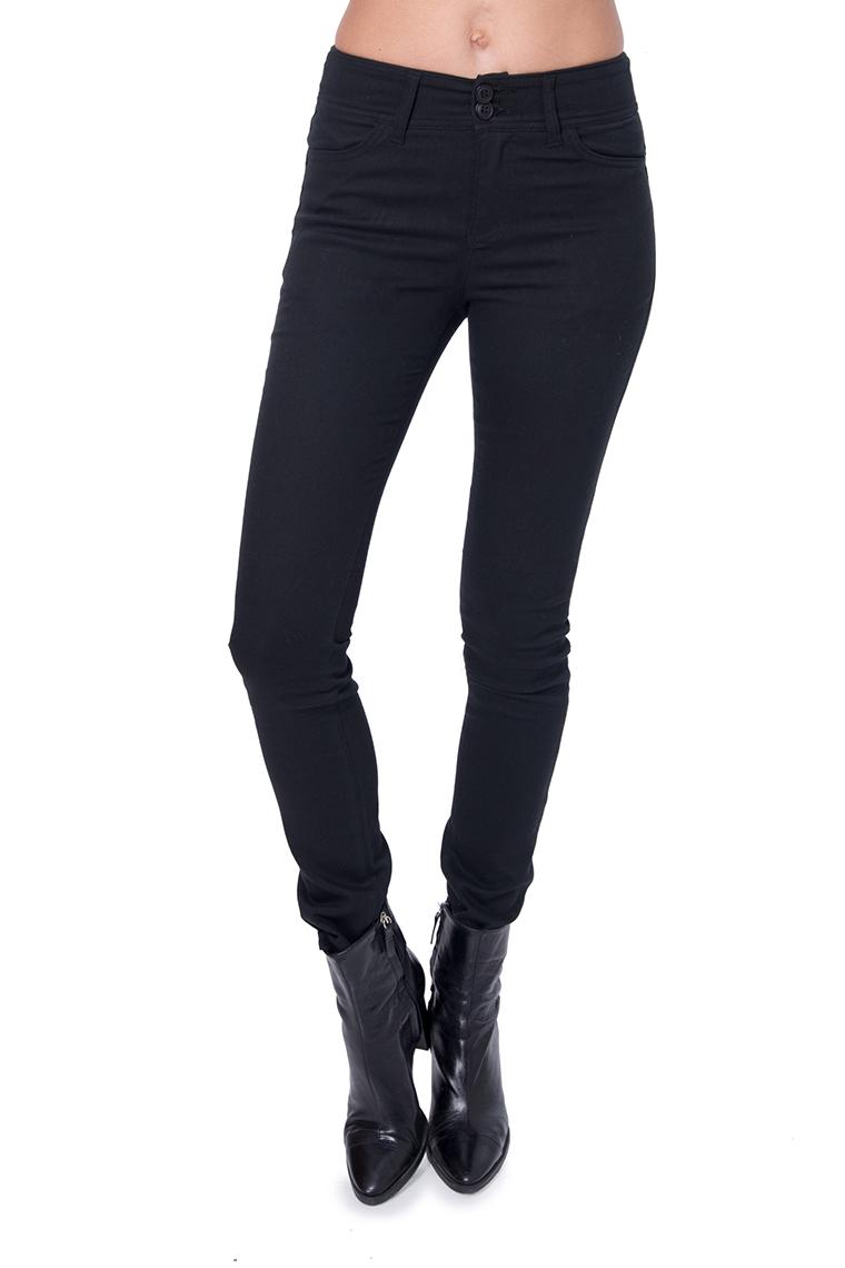 מכנס קלסי גבוה בצבע שחור
