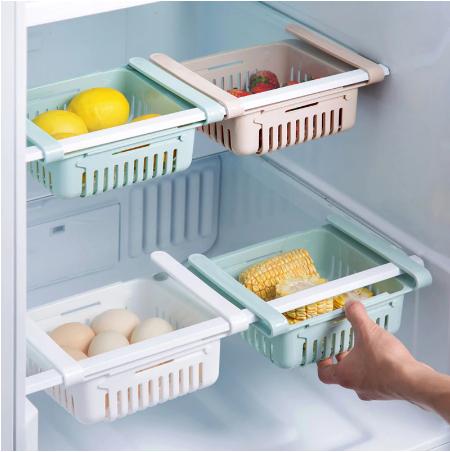 מתלה אחסון למקרר מתכוונן