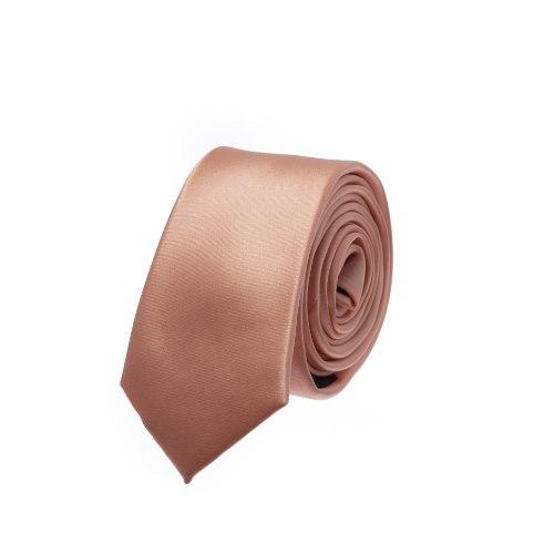 עניבה חלקה ורוד אפרסק